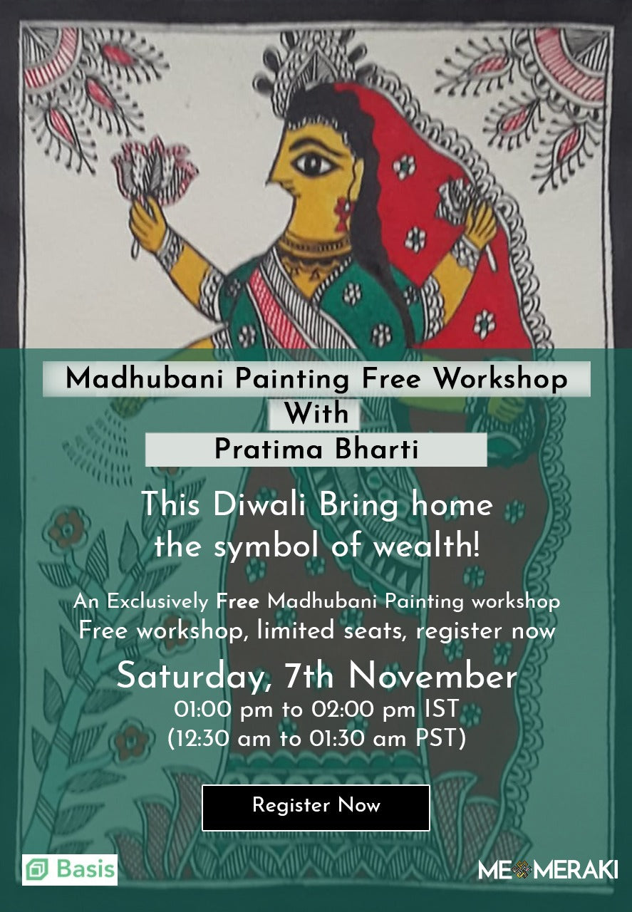 BUY RECORDING: MADHUBANI ART WORKSHOP, DIWALI SPECIAL IN COLLABORATION WITH BASIS