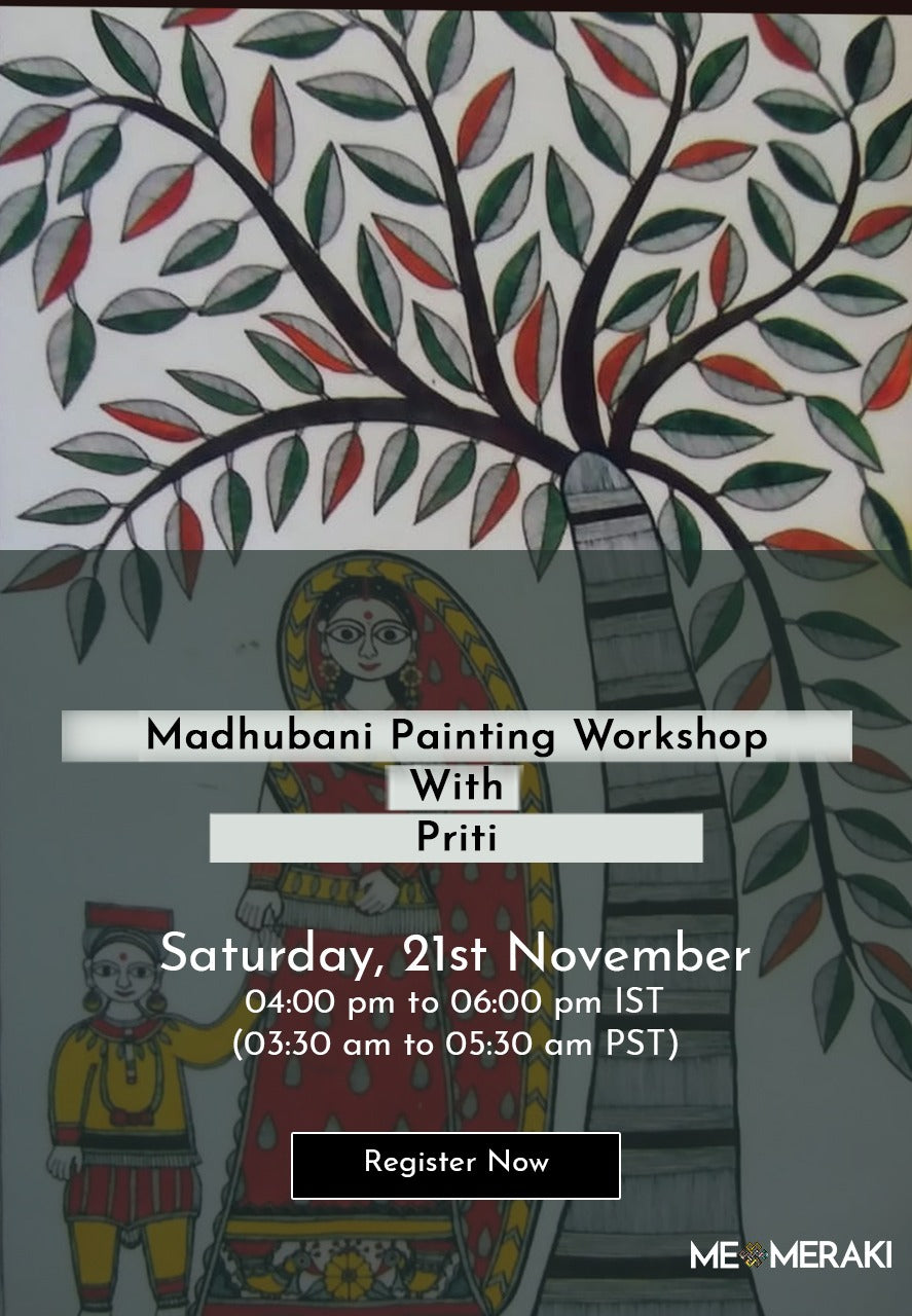 BUY RECORDING : ONLINE MADHUBANI PAINTING WORKSHOP WITH PRITI KARN
