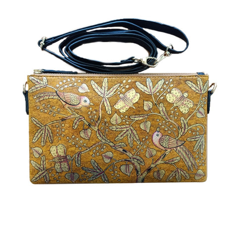 BIRDS OF FEATHER GOLDEN, YELLOW VEGAN CORK SLING