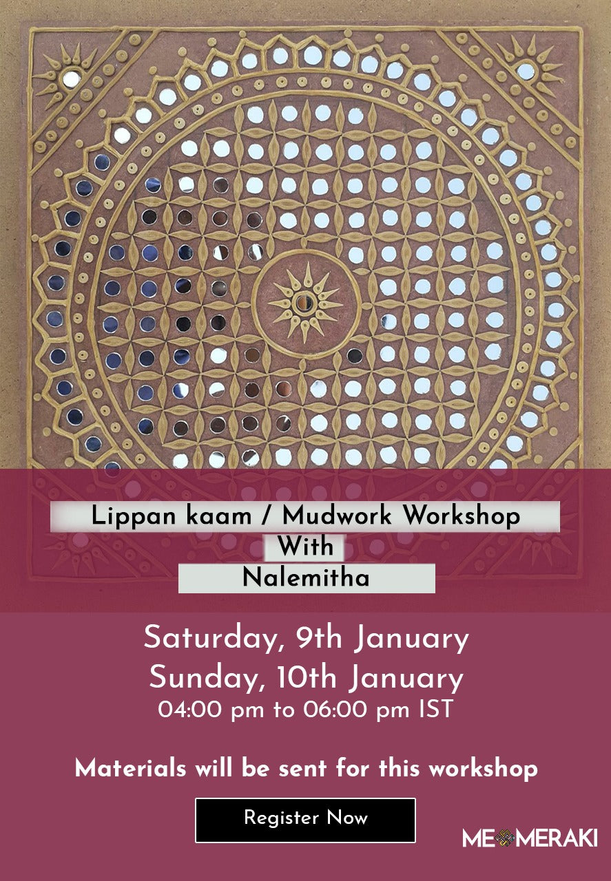 BUY RECORDING: ONLINE MUDWORK/LIPPAN KAAM WORKSHOP WITH NALEMITHA (WITH or WITHOUT MATERIALS)
