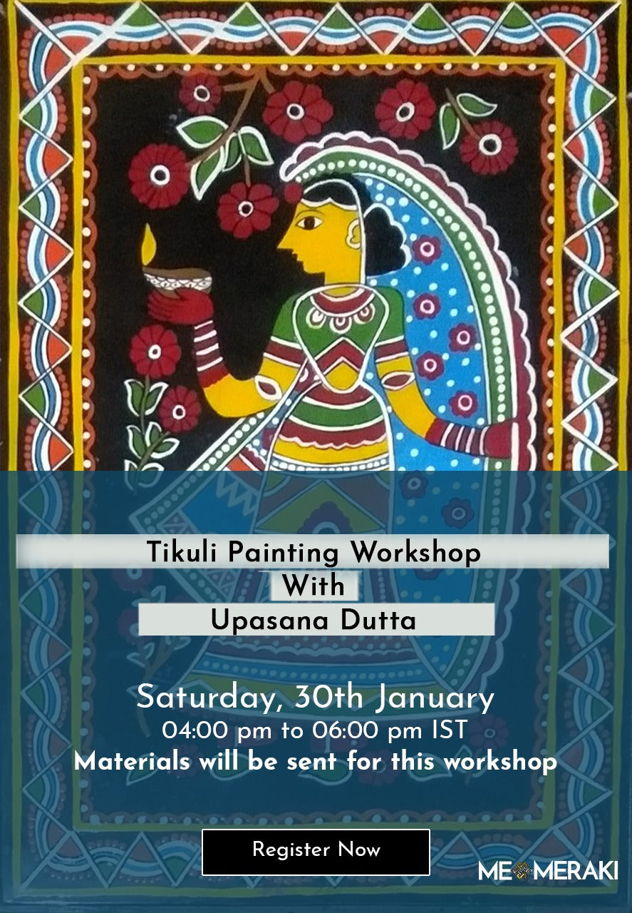 To be rescheduled for Feb: LIVE ONLINE TIKULI WORKSHOP WITH UPASANA KARN (WITH MATERIALS)