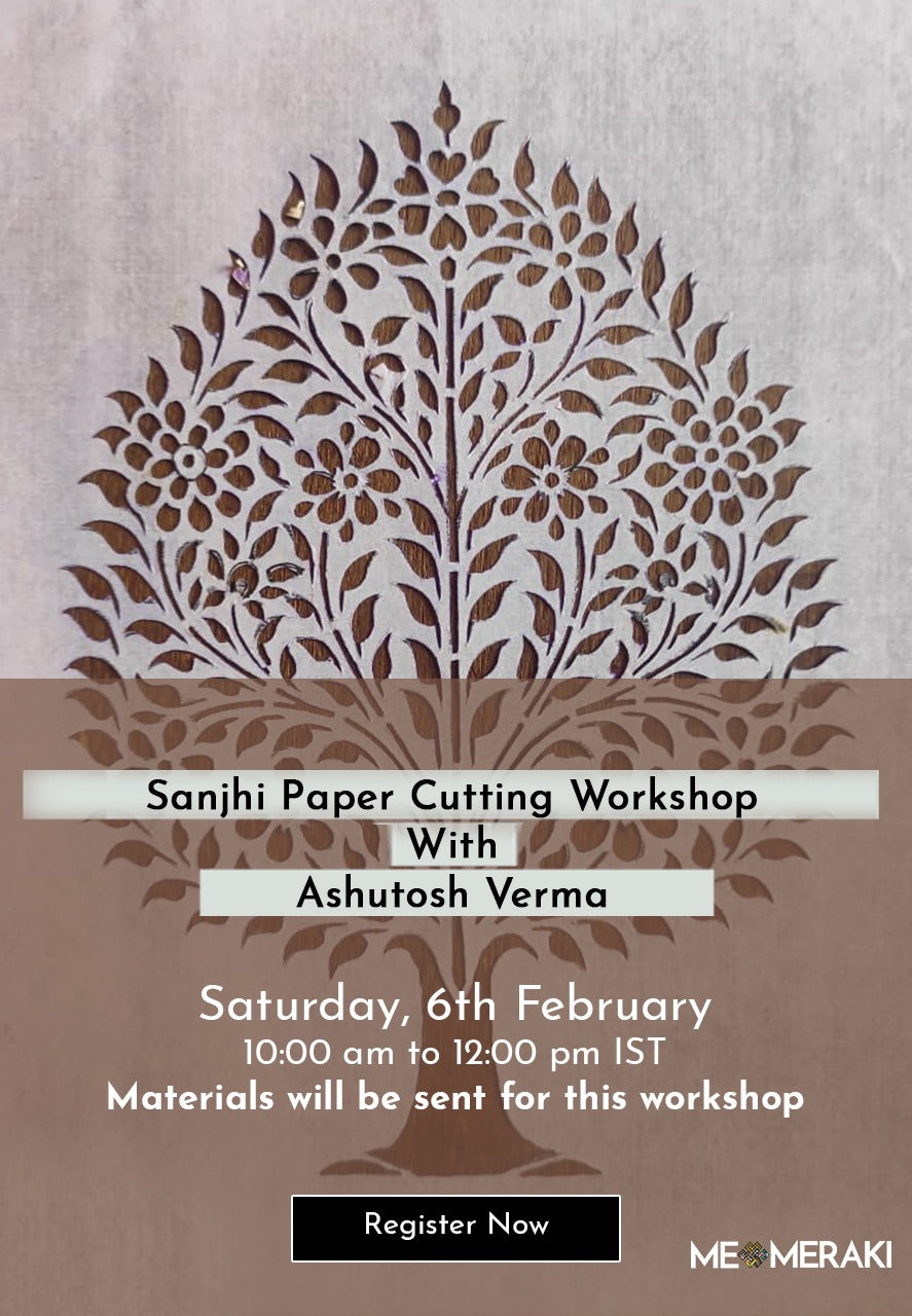 6th FEB: LIVE ONLINE SANJHI WORKSHOP WITH ASHUTOSH (WITH MATERIALS)