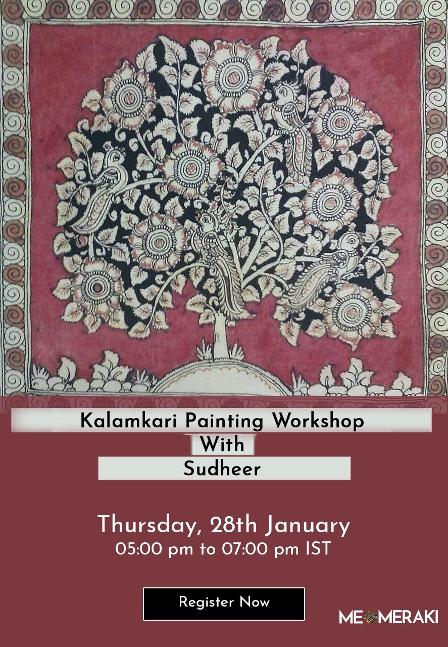 28th JANUARY: LIVE ONLINE KALAMKARI WORKSHOP BY SUDHEER
