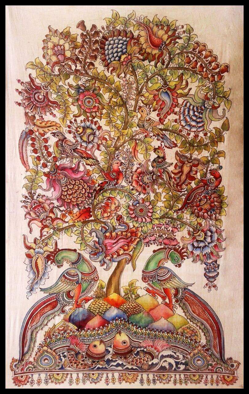 Tree of Life, Kalamkari painting by Sudheer