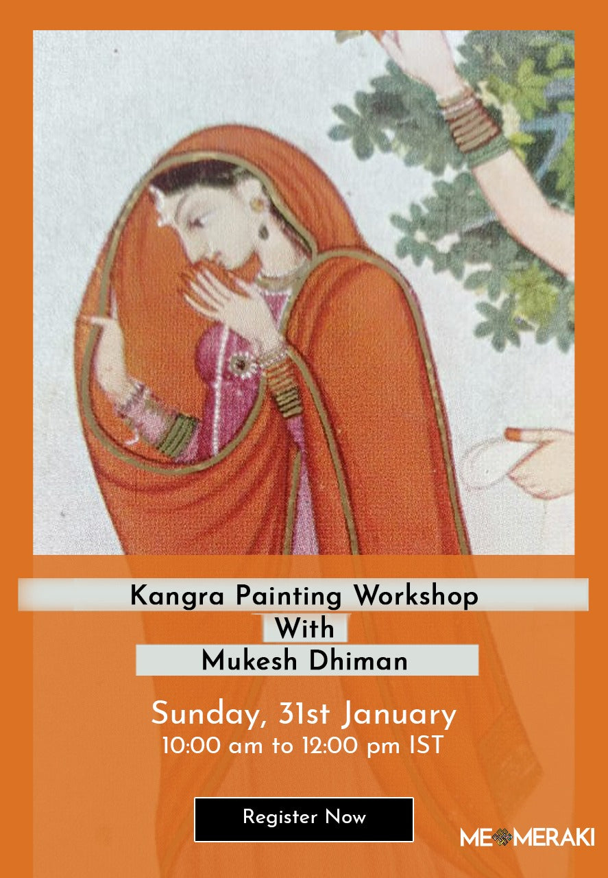BUY RECORDING: LIVE ONLINE KANGRA ART WORKSHOP BY MUKESH DHIMAN
