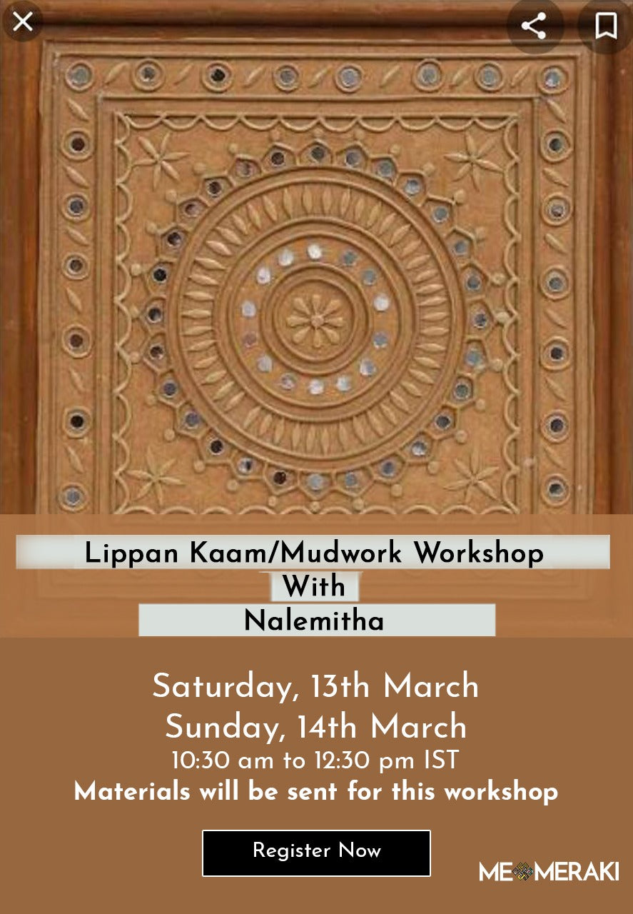 BUY RECORDING: ONLINE LIPPAN KAAM WORKSHOP BY NALEMITHA(Suitable for US timezone too)
