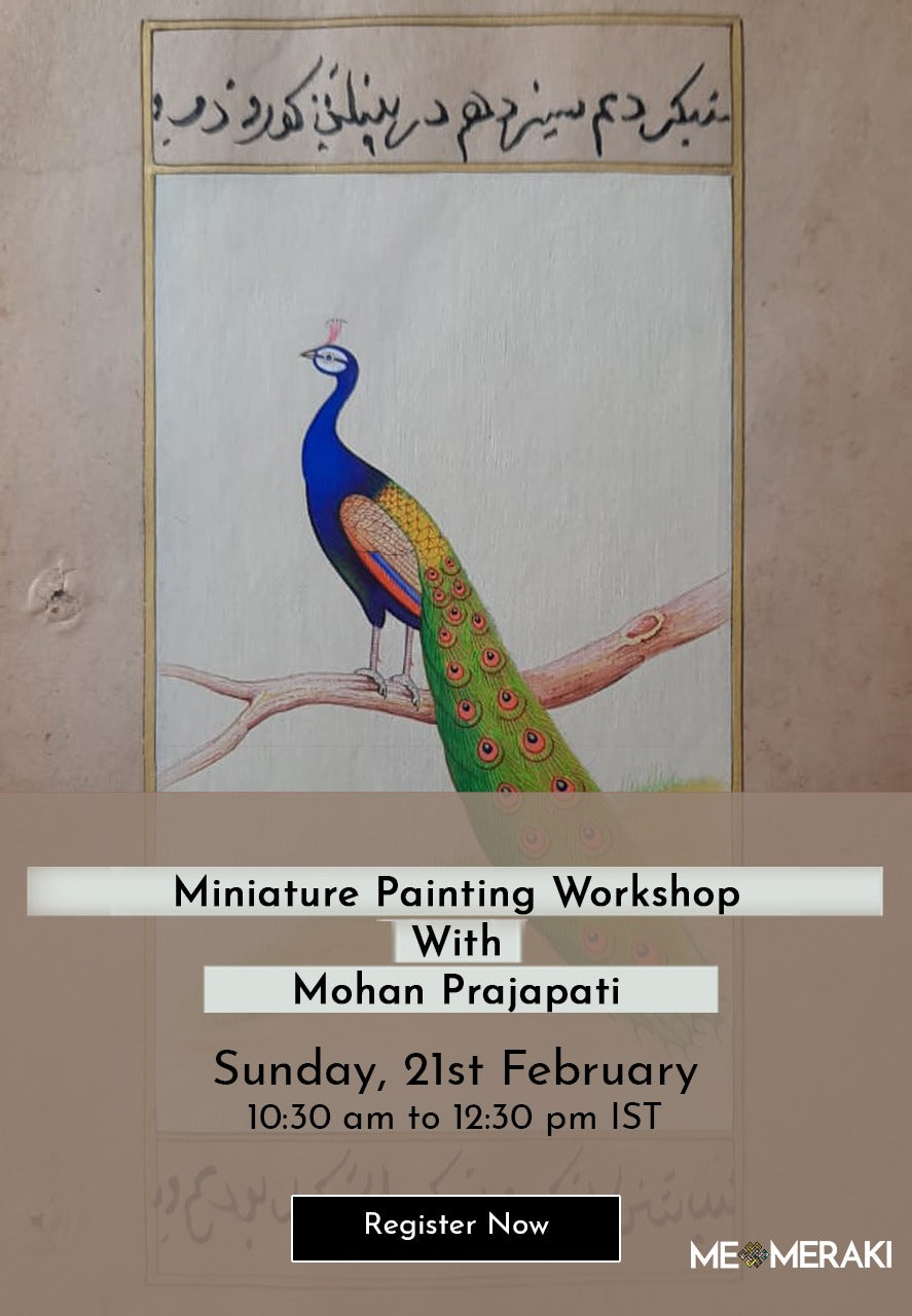 BUY RECORDING: LIVE ONLINE MINIATURE ART WORKSHOP BY MOHAN PRAJAPATI