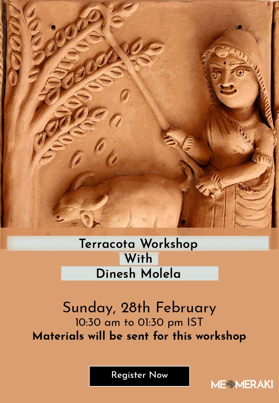 BUY RECORDING: ONLINE TERRACOTTA WORKSHOP WITH DINESH MOLELA (WITH MATERIALS)