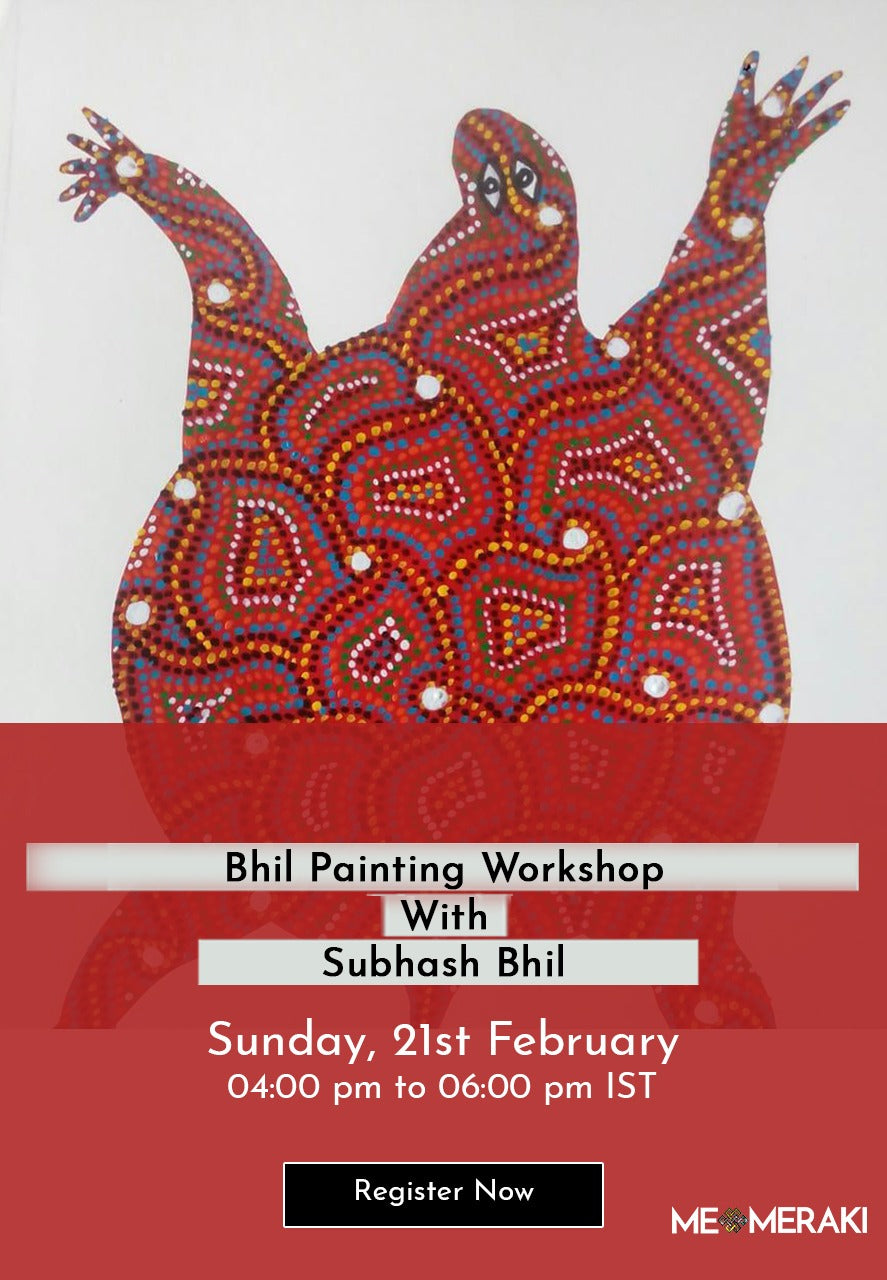BUY RECORDING: ONLINE BHIL ART WORKSHOP BY SUBHASH