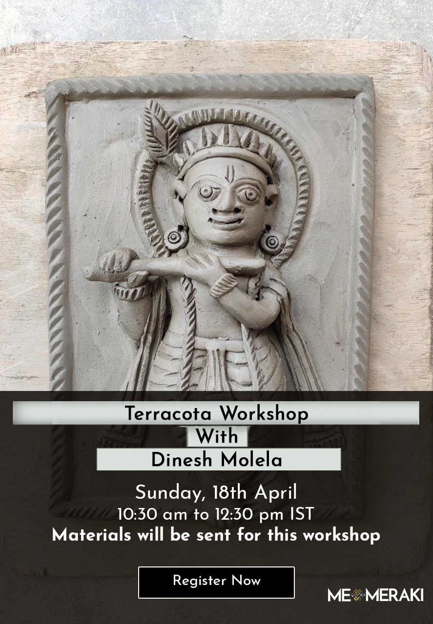18th April: ONLINE TERRACOTTA WORKSHOP WITH DINESH MOLELA (WITH MATERIALS)