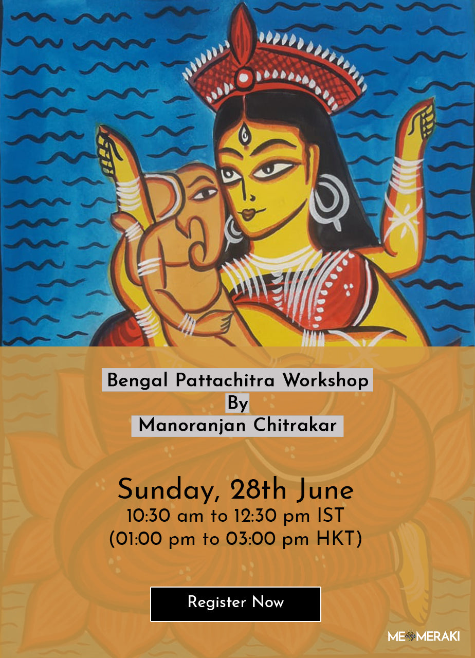 28TH JUNE: ONLINE BENGAL PATTACHITRA WORKSHOP BY MANORANJAN CHITRAKAR