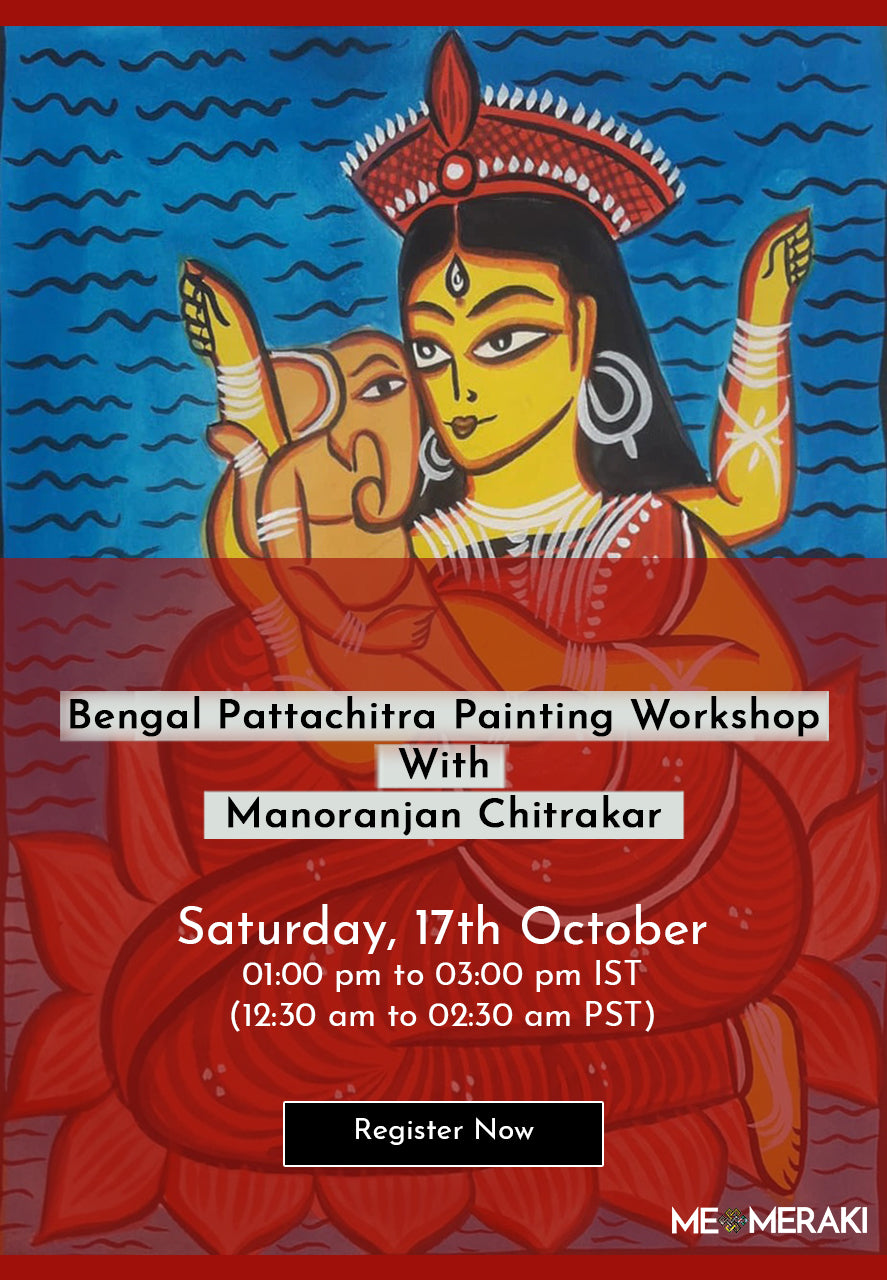 BUY RECORDING: ONLINE BENGAL PATTACHITRA PAINTING WORKSHOP WITH MANORANJAN CHITRAKAR