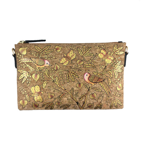 BIRDS OF FEATHER GOLDEN, NATURAL VEGAN CORK SLING