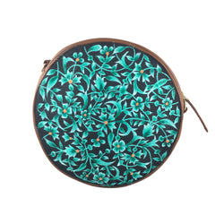 BLUE FLOWERS, NAVY ROUND SLING