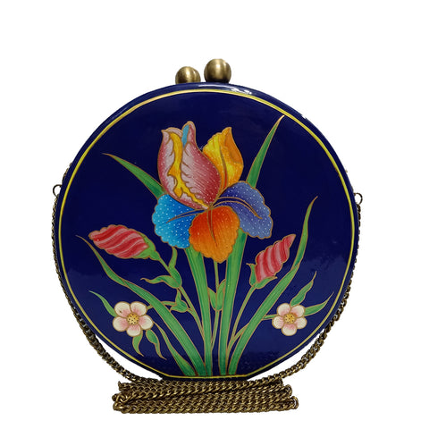 The Tulips, ROUND PAPER MACHE CLUTCH