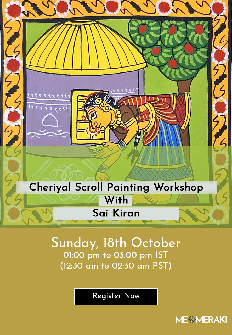 BUY RECORDING: ONLINE CHERIYAL SCROLL PAINTING WORKSHOP WITH SAI KIRAN