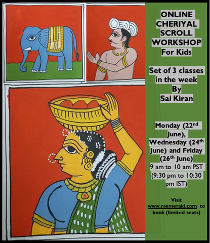 THE QUEEN , CHERIYAL SCROLL PAINTING