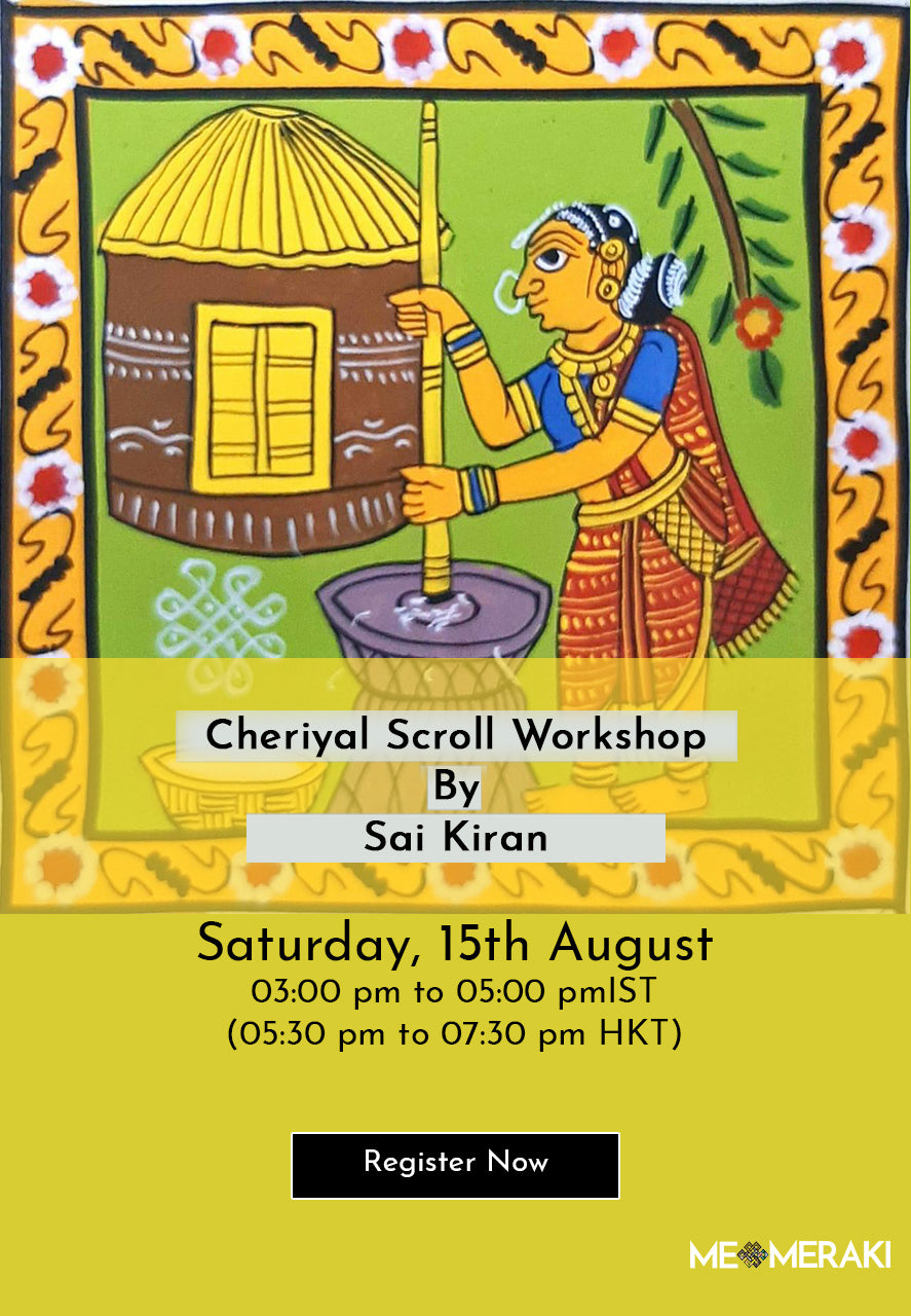 BUY RECORDING: ONLINE CHERIYAL SCROLL ART WORKSHOP WITH SAI KIRAN