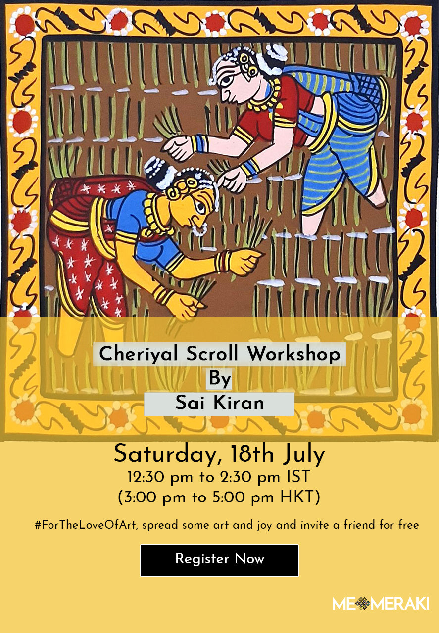 18TH JULY: ONLINE CHERIYAL SCROLL WORKSHOP BY SAI KIRAN