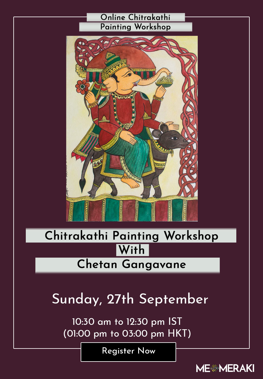 27TH SEPTEMBER: ONLINE CHTRAKATHI PAINTING WORKSHOP WITH CHETAN GANGAVANE