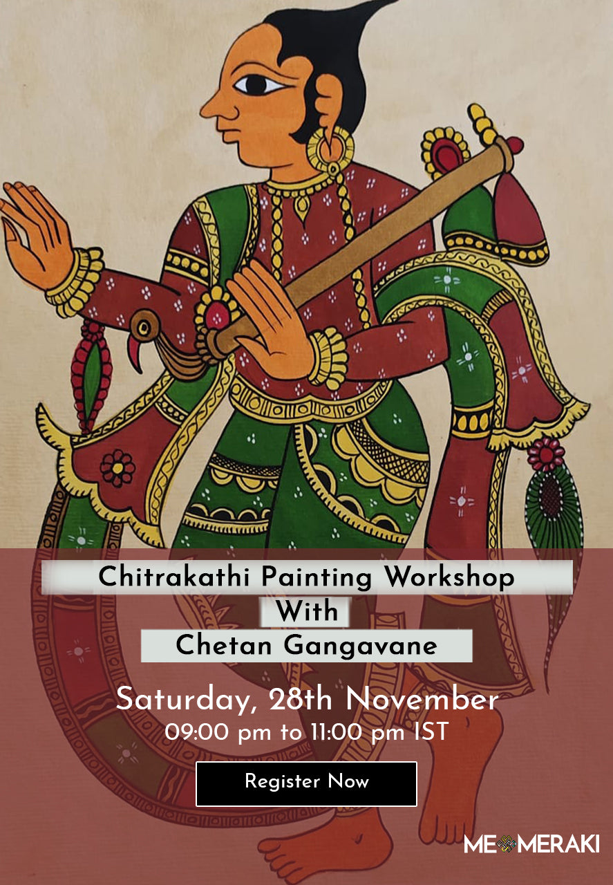 Buy recording: ONLINE CHITRAKATHI PAINTING WORKSHOP WITH CHETAN GANGAVANE