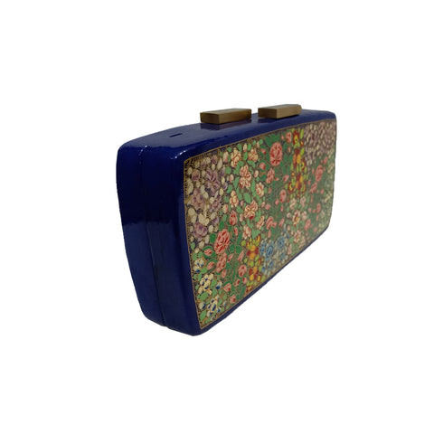 Flowers in every colour , RECTANGLE PAPER MACHE CLUTCH