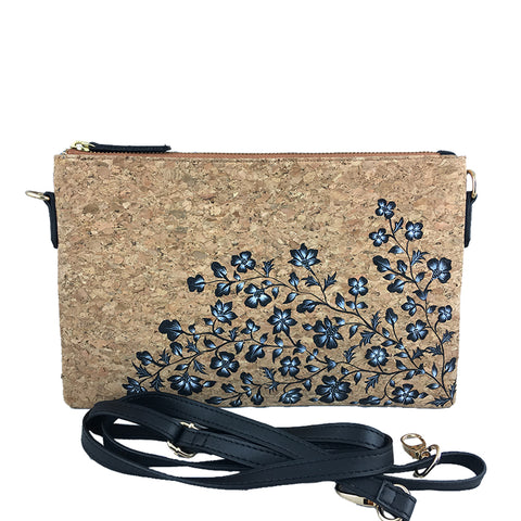 White Flowers, Natural Vegan Cork Sling