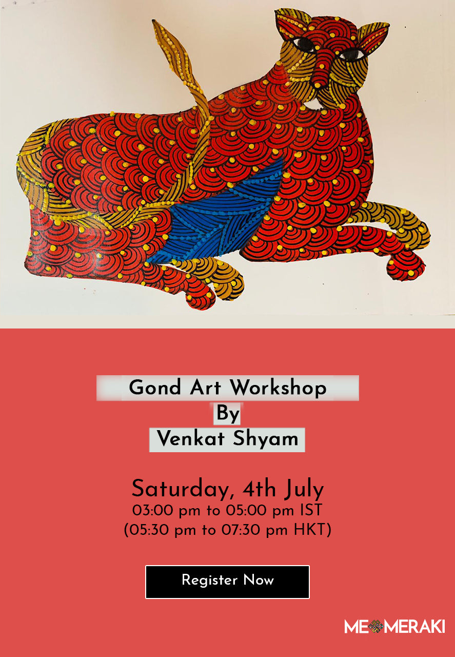 4TH JULY: ONLINE GOND ART WORKSHOP BY VENKAT SHYAM
