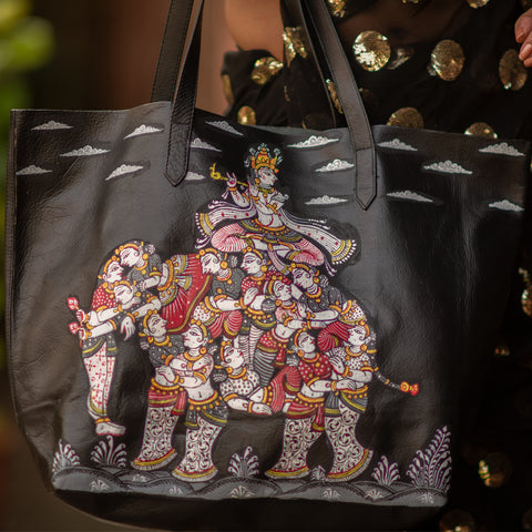 Kandarpa Haathi, BLACK TOTE BAG