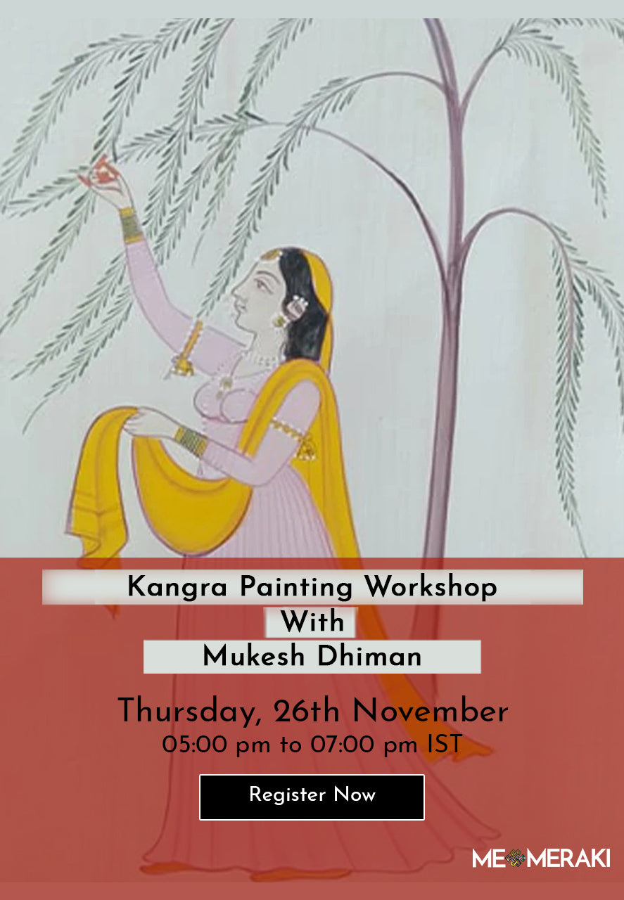 Buy Recording: ONLINE KANGRA PAINTING WORKSHOP WITH MUKESH DHIMAN