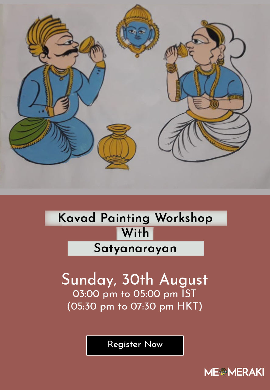 30TH AUGUST: ONLINE KAVAD PAINTING WORKSHOP WITH SATYANARAYAN
