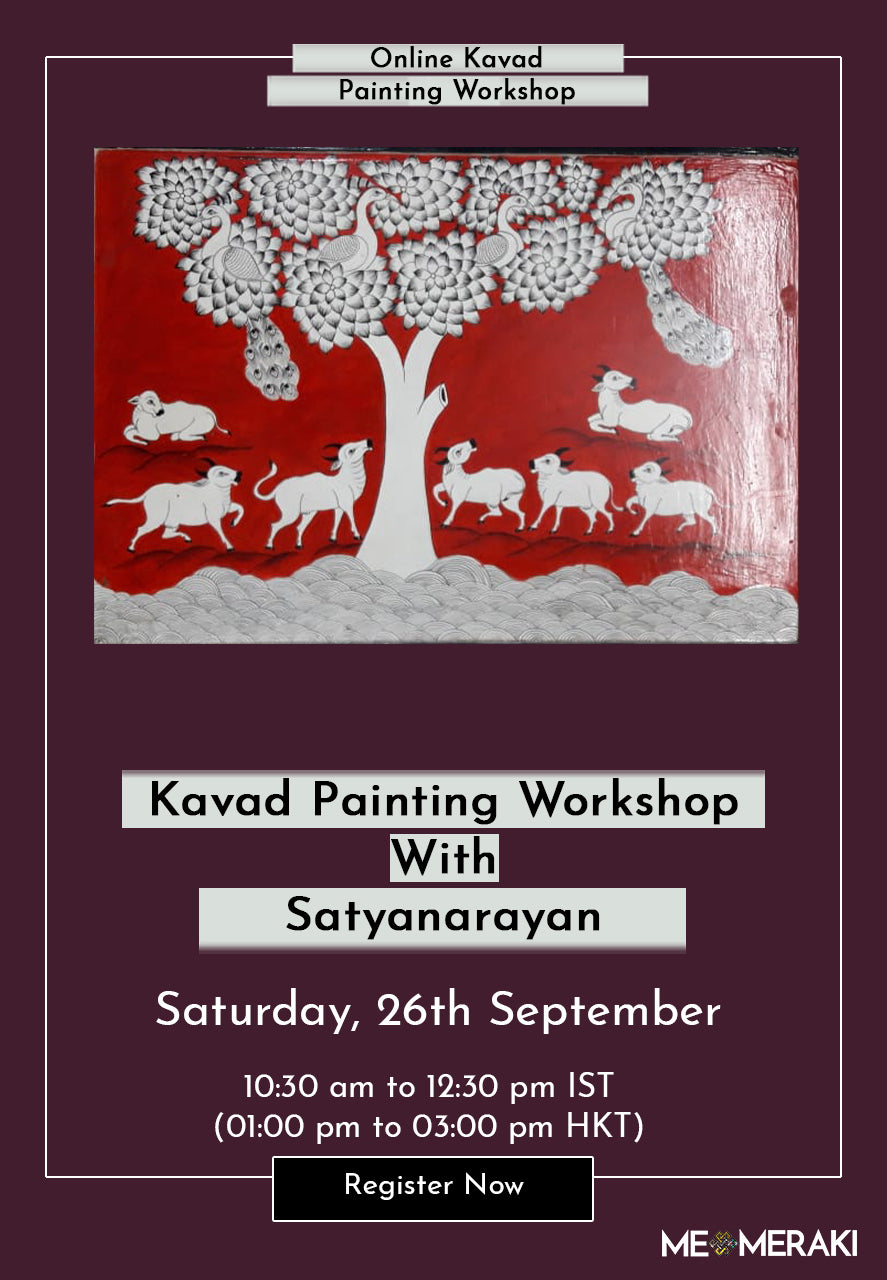 26TH SEPTEMBER: ONLINE KAVAD PAINTING WORKSHOP WITH SATYANARAYAN