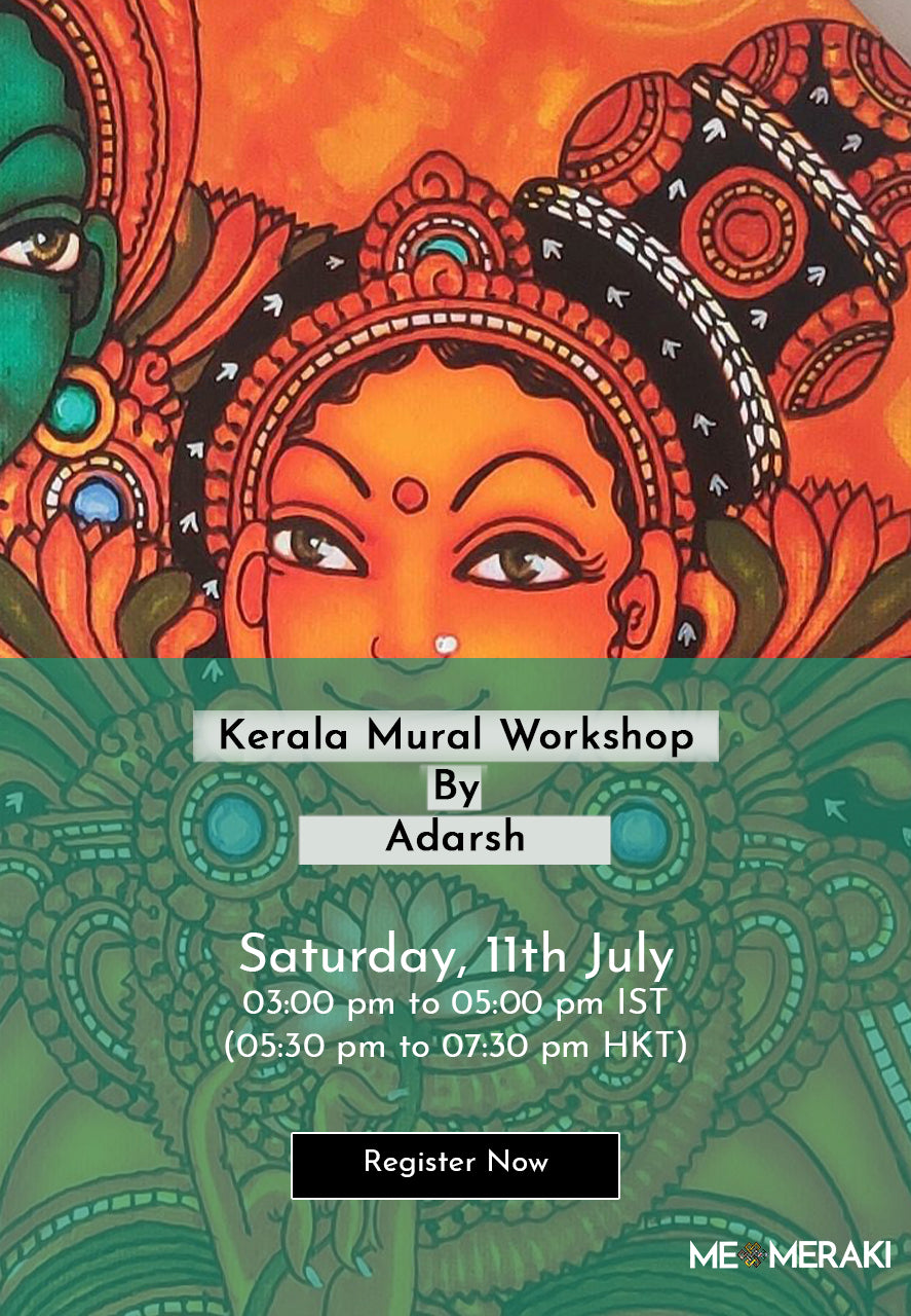 11TH JULY: ONLINE KERALA MURAL WORKSHOP BY ADARSH