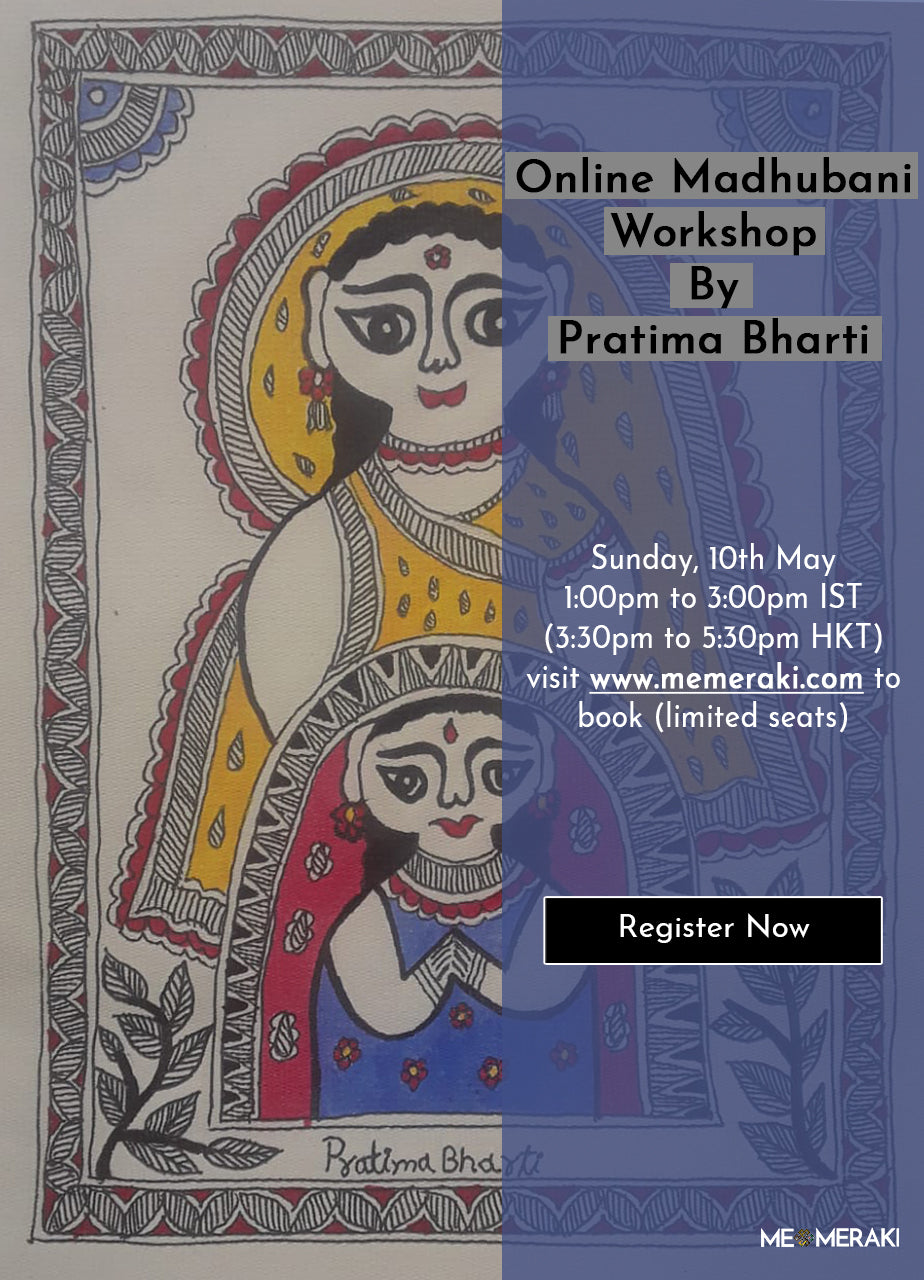10TH MAY: ONLINE MADHUBANI ART WORKSHOP WITH PRATIMA BHARTI