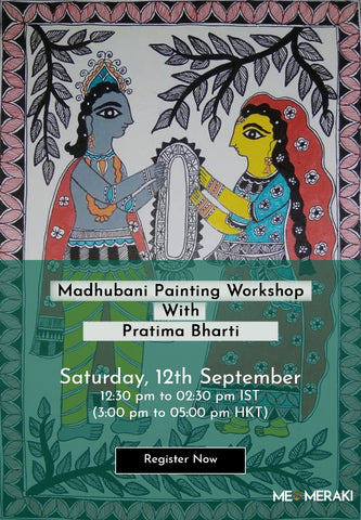 7th and 8th Nov : ONLINE MUDWORK/LIPPAN KAAM WORKSHOP WITH NALESMITA – MATERIALS INCLUDED
