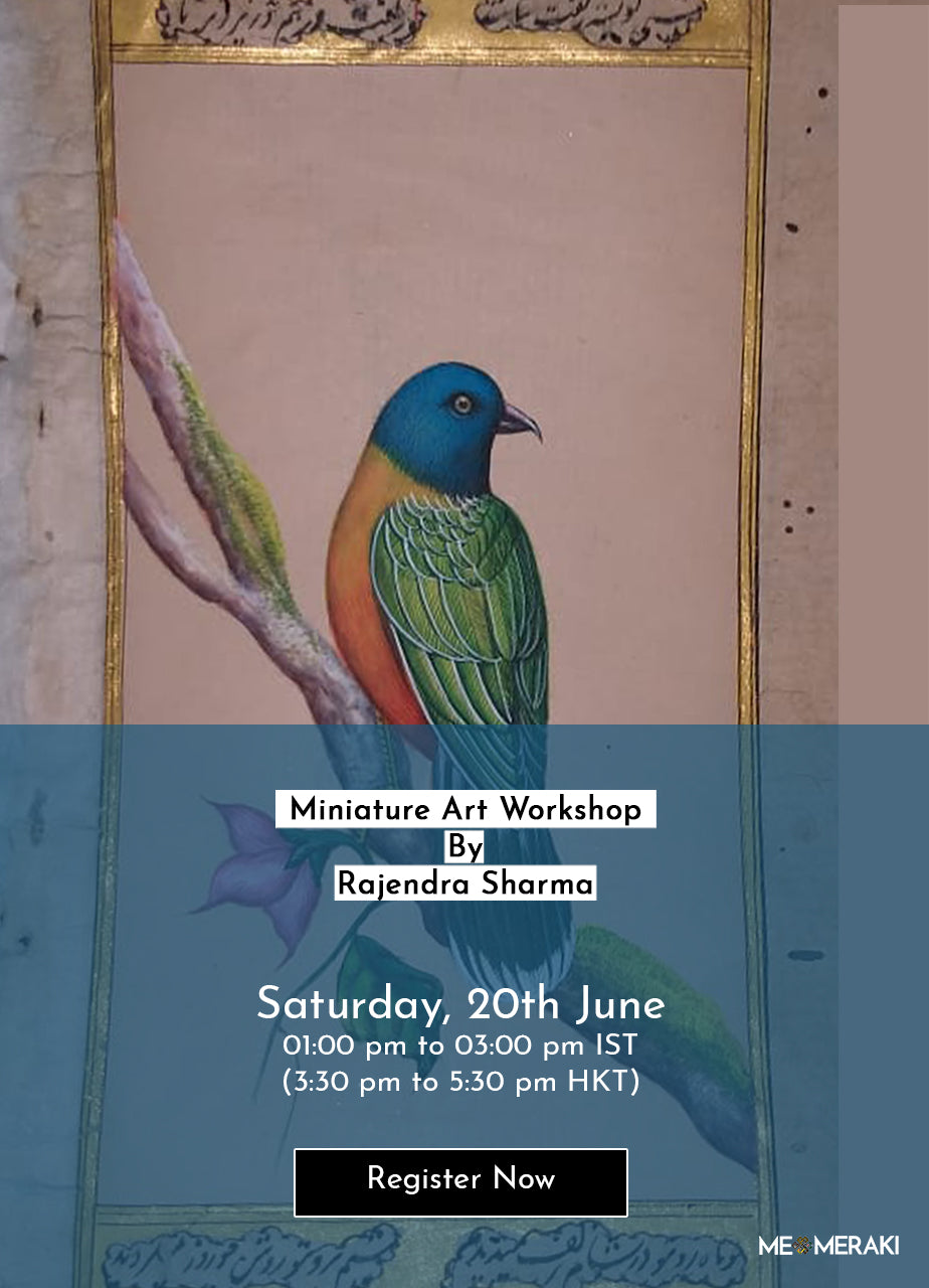 20TH JUNE: ONLINE MINIATURE ART WORKSHOP BY RAJENDRA SHARMA