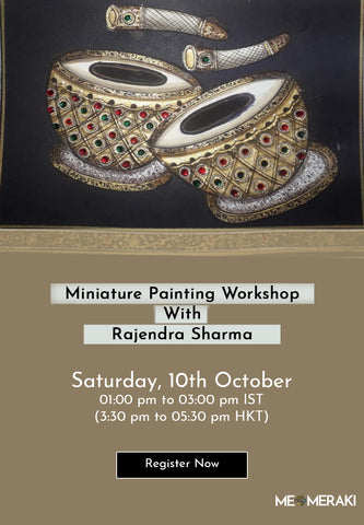 10TH OCTOBER : ONLINE GOND PAINTING WORKSHOP WITH VENKAT SHYAM