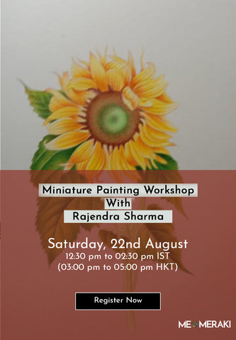 22ND AUGUST: ONLINE MINIATURE PAINTING WORKSHOP WITH RAJENDRA SHARMA