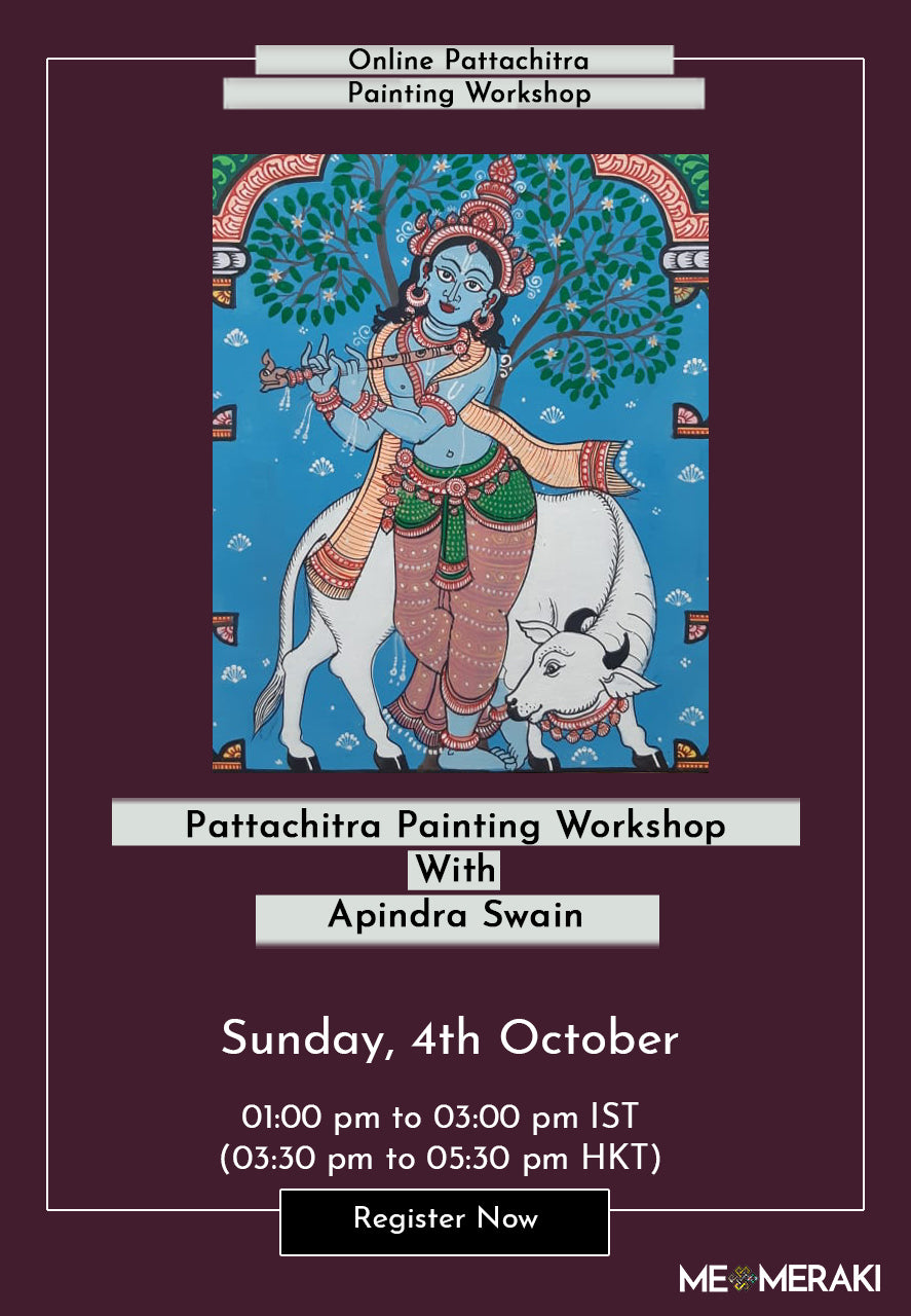 4th october : ONLINE PATTACHITRA PAINTING WORKSHOP WITH APINDRA SWAIN