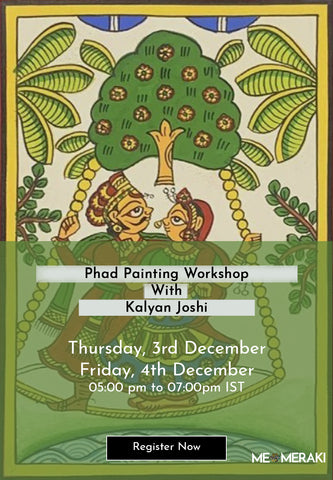 3rd & 4th December: ONLINE PHAD PAINTING WORKSHOP WITH KALYAN JOSHI