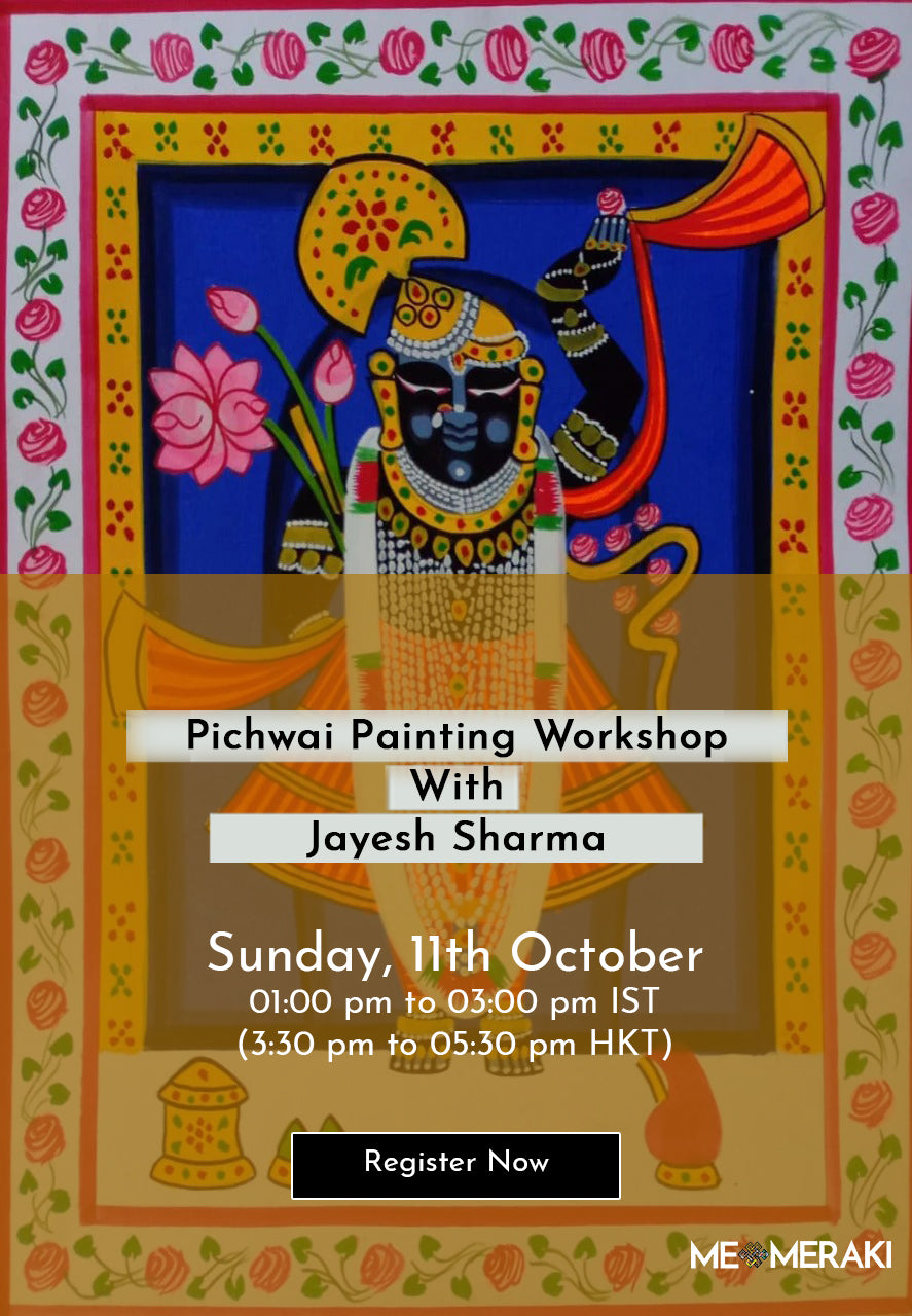 11TH OCTOBER : ONLINE PICHWAI PAINTING WORKSHOP WITH JAYESH SHARMA
