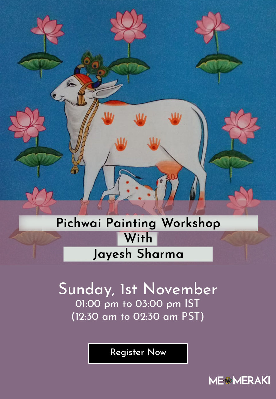 BUY RECORDING: ONLINE PICHWAI ART WORKSHOP WITH JAYESH SHARMA