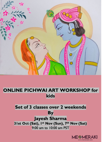 10th Aug to 14th Aug ONLINE PHAD PAINTING WORKSHOP FOR KIDS, US TIMEZONE