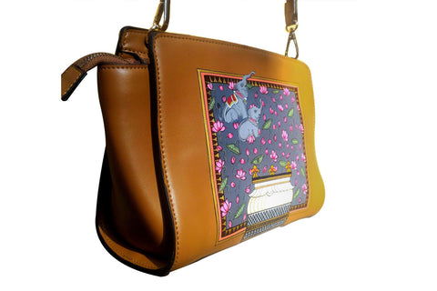 Indian Summer | Handpainted Leather Bags | Brown Leather handbags