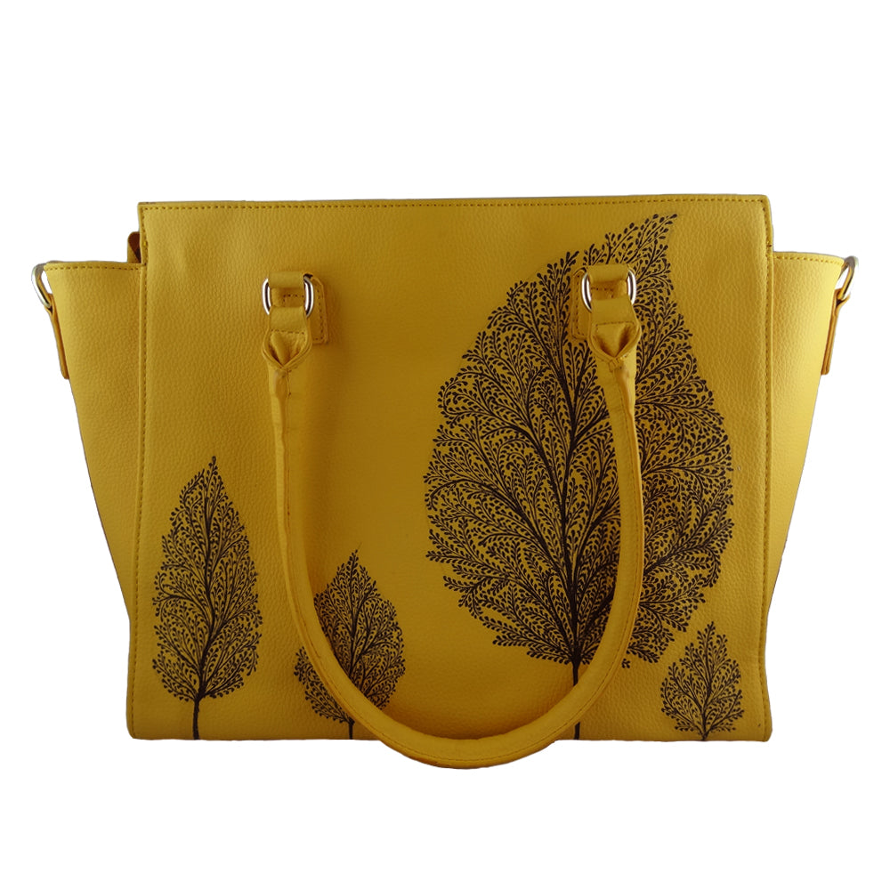 TREE OF LIFE YELLOW LAPTOP BAG