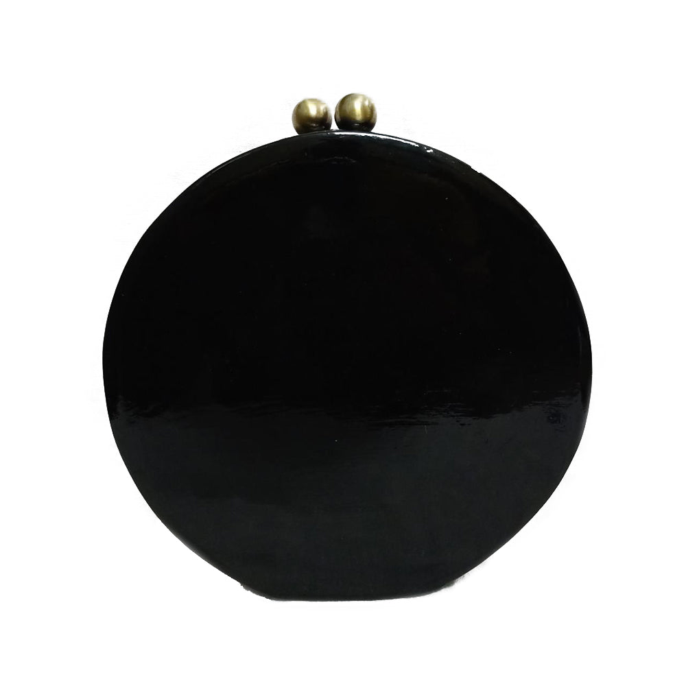 THE WHITE BIRDS , ROUND PAPER MACHE CLUTCH