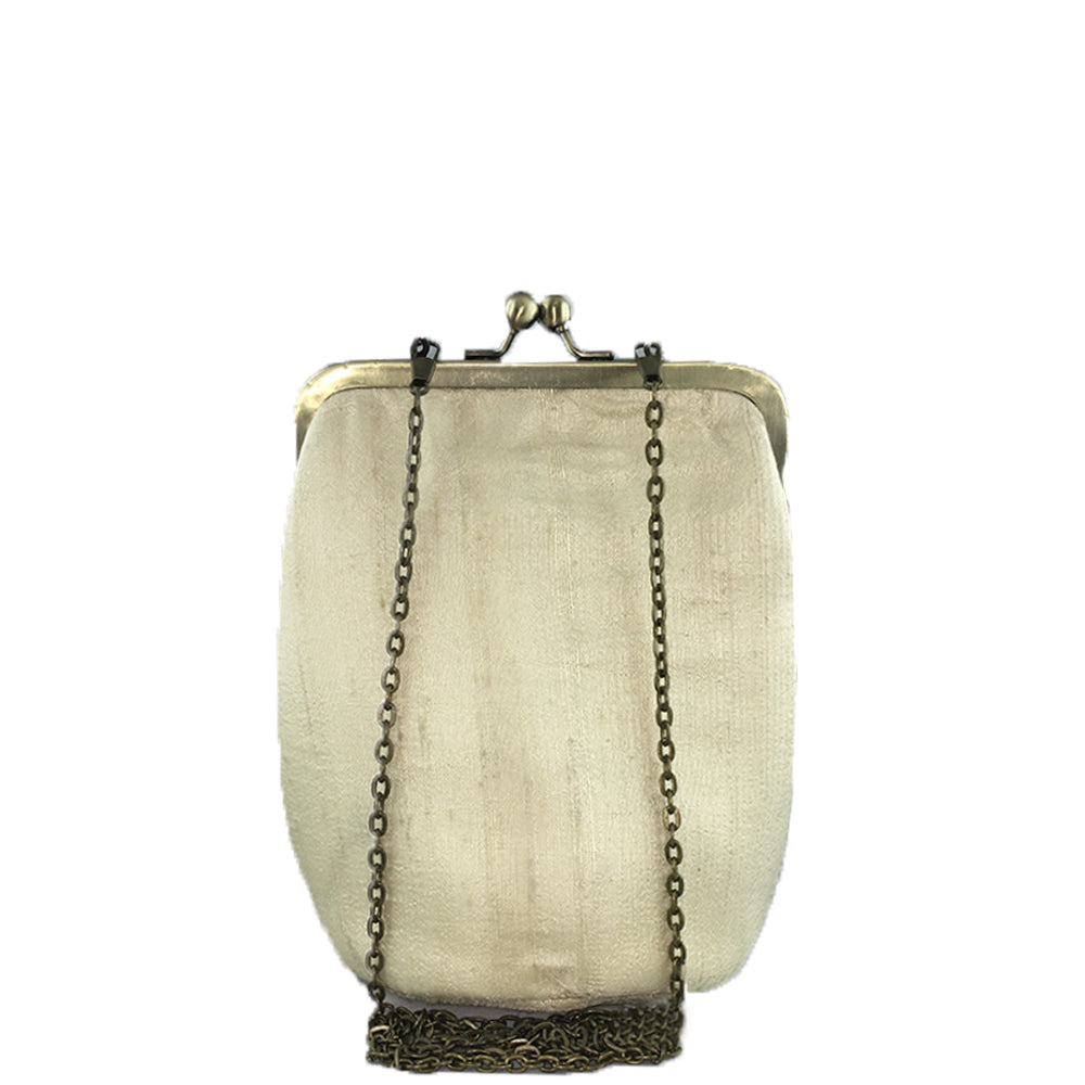 RETURN TO THE ROOT, GOLD SILK CLUTCH