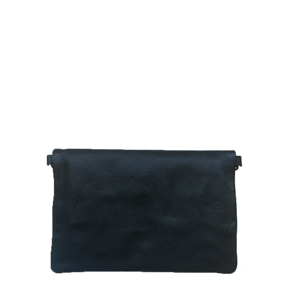 The Paisleys, Black Foldover Clutch/Sling