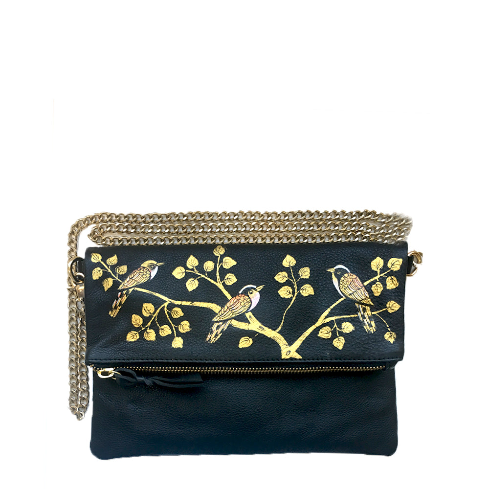 Birds of a Feather, Foldover Clutch/Sling