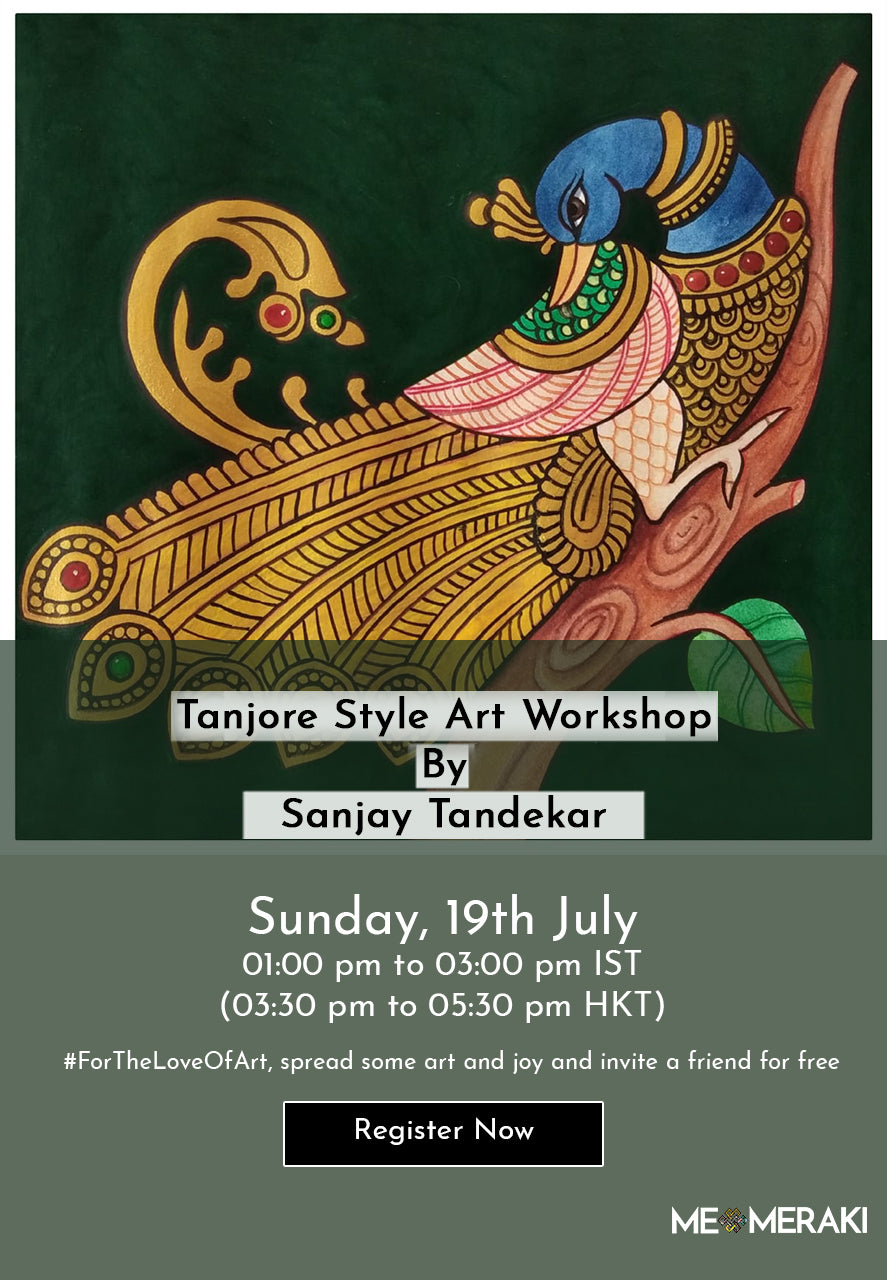 BUY RECORDING: ONLINE TANJORE STYLE ART WORKSHOP WITH SANJAY TANDEKAR